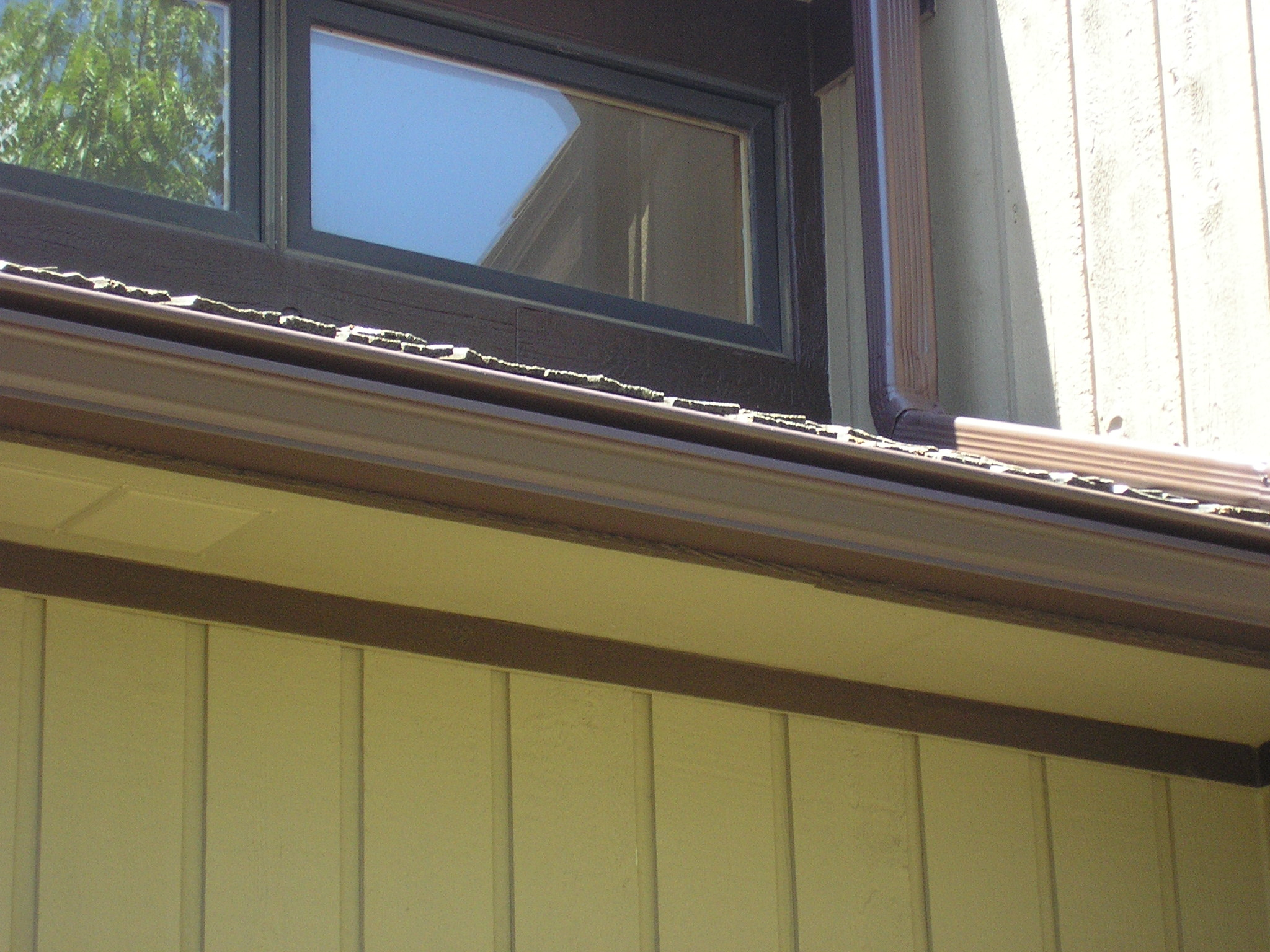 cary illinois brown gutter shutter and downspout