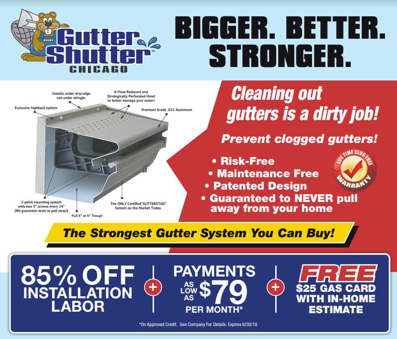 gutter shutter ad 85% off labor