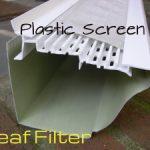 leaf filter plastic screen gutter guard