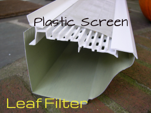 leaf filter plastic screen gutter guard
